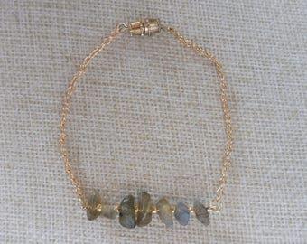 Labradorite Bar Bracelet | Gemstone Bracelet | Labradorite Gemstone Bracelet