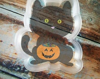 cat with treat bucket cookie cutter
