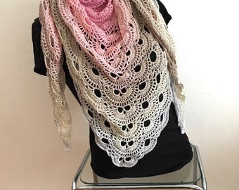 Crochet triangle shawl, Sommerschal, cloth, scarf, shawl, hip-20% discount