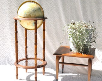 vintage cramu0027s imperial world globe with wooden stand retro cramu0027s globe 12in world globe