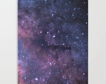 Purple Galaxy Journal, Stars Journal, Space Journal, Purple Glitter Galaxy Notebook, Purple Galaxy Magic Notebook, Purple Travelers Journal