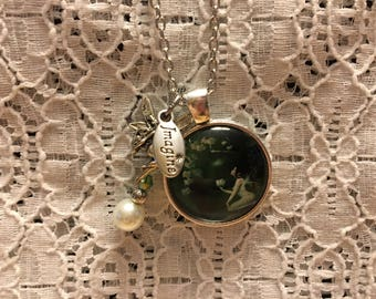 Lily of the Valley Fairy Charm Necklace/Fairy Jewelry/Fairy Necklace/Fairy Pendant/I Love Fairies Jewelry/Fairy Gift