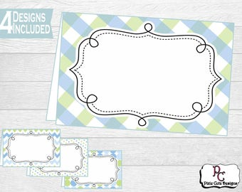 Baby Shower Printable Serving Cards