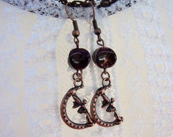 "Fancy ""Copper fairy"" earrings"