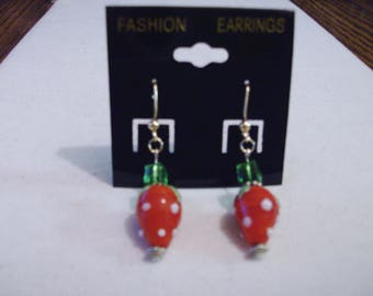 Strawberry Earrings.