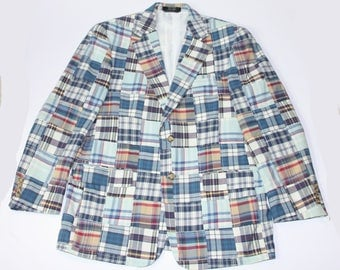 Ben Silver Charleston Plaid Sports Coat 40 Regular