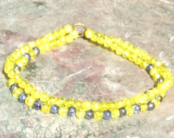 Frosted glass bead necklace