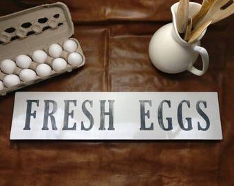 FRESH EGGS - Hand-painted Farmhouse Decor Sign