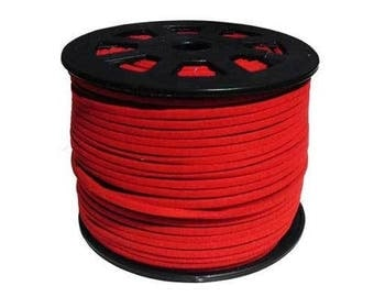 1 meter of 3 mm red suede cord