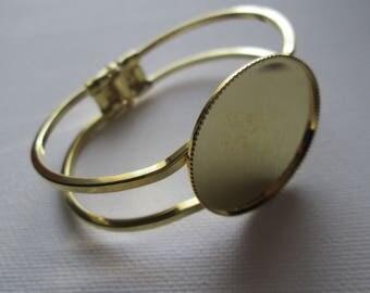 support cabochon 30 mm Gold Bracelet
