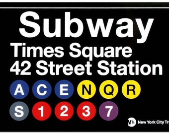 Times Square 42 Street New York City Subway Station Sign