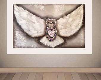Postage included in price. Flying owl. 900mm-600mm