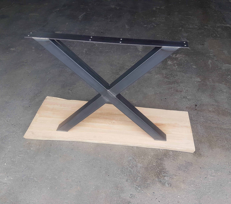 tischbeine kreuz rohstahl 80 80 tischgestell 73 80 cm 1 paar. Black Bedroom Furniture Sets. Home Design Ideas