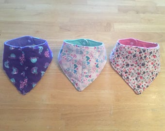 Girls Bandana Bibs