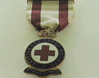 WWII British Red Cross Medal 3 Years Service