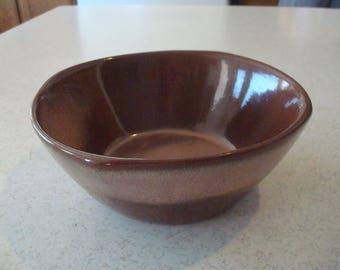 Vintage Frankoma 5XL Brown Cereal Bowl