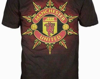 New ultramodern 3D  High Quality  Print Fans Manchester United short Sleeve t-shirt