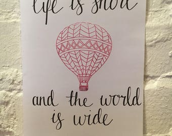 Travelling Quote Print