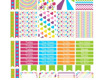CARNIVAL  Weekly Planner Sticker Kit/Printable's Happy Planner Classic Instant Download /
