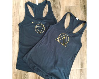 Minimalist Zodiac Sign Racerback Tank women's astrology
