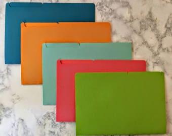 Mini File Folders - Assorted Colors