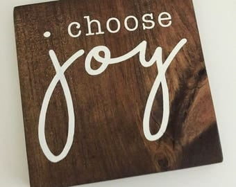 Choose Joy wood sign, home decor, wall decor, gallery wall, inspirational sign, happy, living room decor, bedroom decor, breathe, yoga