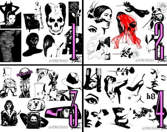 The Wolf Rosario Tattoo Flash Sheets 1-4