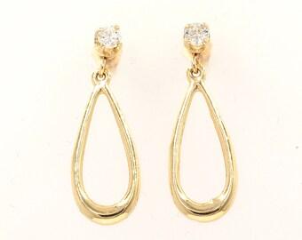 Diaond Earrings, 0.34ct, 14K Gold (14ER522)