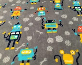 Large baby blanket super soft baby joka robots