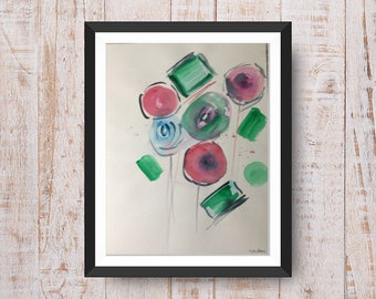 Original watercolor painting Art abstract Watercolor abstract painting