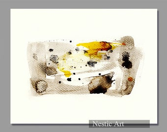 006 : Abstract art, watercolor painting, watercolors art, contemporary art, digital, instant download, 8x10, 8x12, 11x14, A4, A3