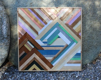 WOOD WALL ART, 60x60 Mosaic