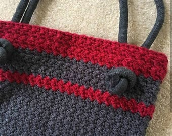 Knotted Rope Bag. Handmade crochet bag/purse/tote
