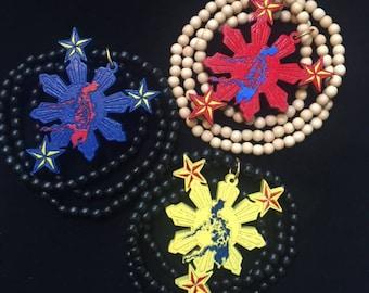 Philippines necklace Filipino wood jewelry