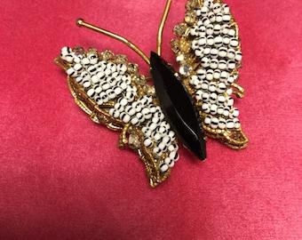 ORIGINAL BY ROBERT Beaded Butterfly  Brooch
