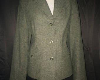L.L. Bean vtg green blazer jacket women's Large