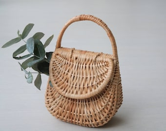 Wicker basket bag - medium, gondola basket, wicker bag, basket bag, cesta de mimbre, weidenkorb, panier en osier, panier gondole, korgväska.