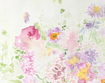 Flower water color paper
