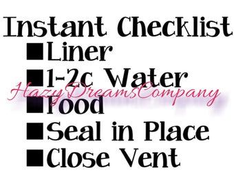 Instant Pot Decal Instant Pot Checklist Instant Pot Decal