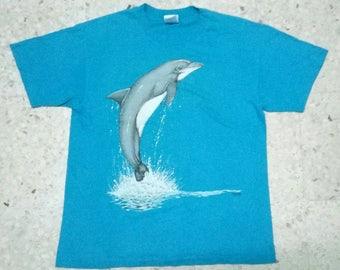 Vintage T-Shirt Dolphin Saiz L