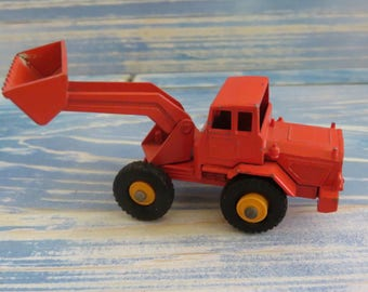"Lesney ""Matchbox"" Series Tractor Shovel No.69 Made in England(rare orange color)"