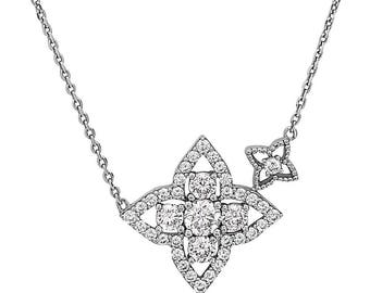 925 Sterling Silver Women's Crystal Fashionable Necklace