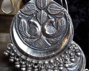 Sterling Silver Rajasthani Tribal Gypsy Earrings