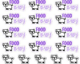 Food Baby // Diary // Planner // Stickers