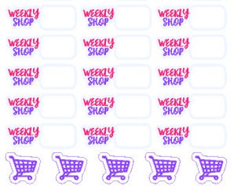 Weekly Shop // Diary // Planner // Stickers