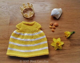 """Fashion Girl - Collection """"my little ' dumb tites""""-yellow and white"""
