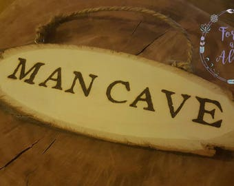 MAN CAVE,  Gifts For Men, Gift for him, rustic sign, Gifts for Men, Gifts for him, Man Cave Decor, Garage Sign, Man Gifts, man cave sign
