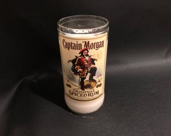 1 Liter Captain Morgan Candle Spiced Rum  BOTTLE Soy Candle. Made To Order !!!!! 1 Liter vs 750ML
