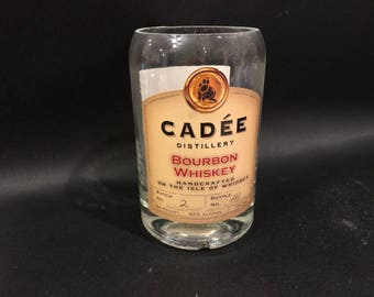HANDCRAFTED Candle UP-CYCLED Cadee Distillery Bourbon Whiskey Bottle Soy Candle. Made To Order !!!!!!!