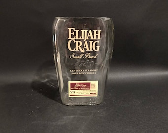Huge 1.75ML Elijah Craig Candle Bourbon Whiskey BOTTLE Soy Candle.Made To Order !!!!!!! 1.75ML vs 750ML